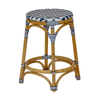 Pinnacles Counter Stool in White/Navy