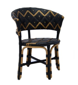 Pinnacles Arm Chair in Black/Gold
