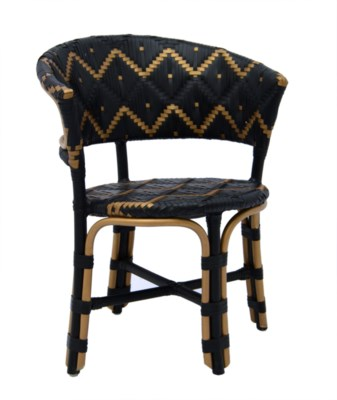 Pinnacles Occasional Chair in Natural/Black