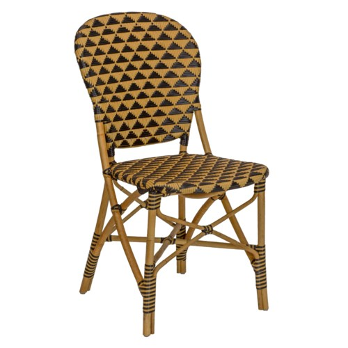 Pinnacles Side Chair in Natural/Black
