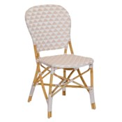 Pinnacles Side Chair in White/Blush