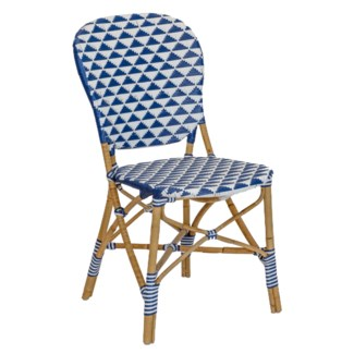 Pinnacles Side Chair in White/Navy