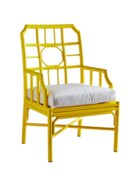 4-Season Regeant Arm Chair (Aluminum) w/ Cushion - Yellow