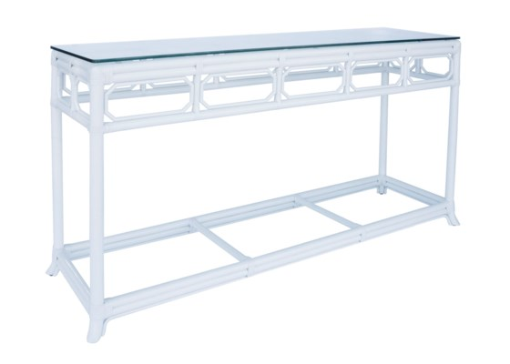 Regeant Console Table withGlass top in White