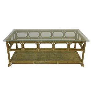Regeant Rectangular Coffee Table in Nutmeg