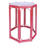 Regeant 4-Season Side Table in Antique Red - LIQ