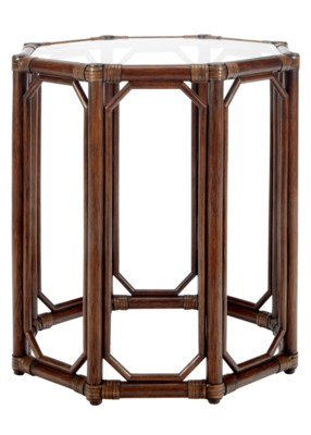 Regeant Octagonal Side Table in Cinnamon