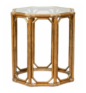 Regeant Octagon End Table in Nutmeg