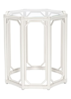 Regeant Octagon End Table in White