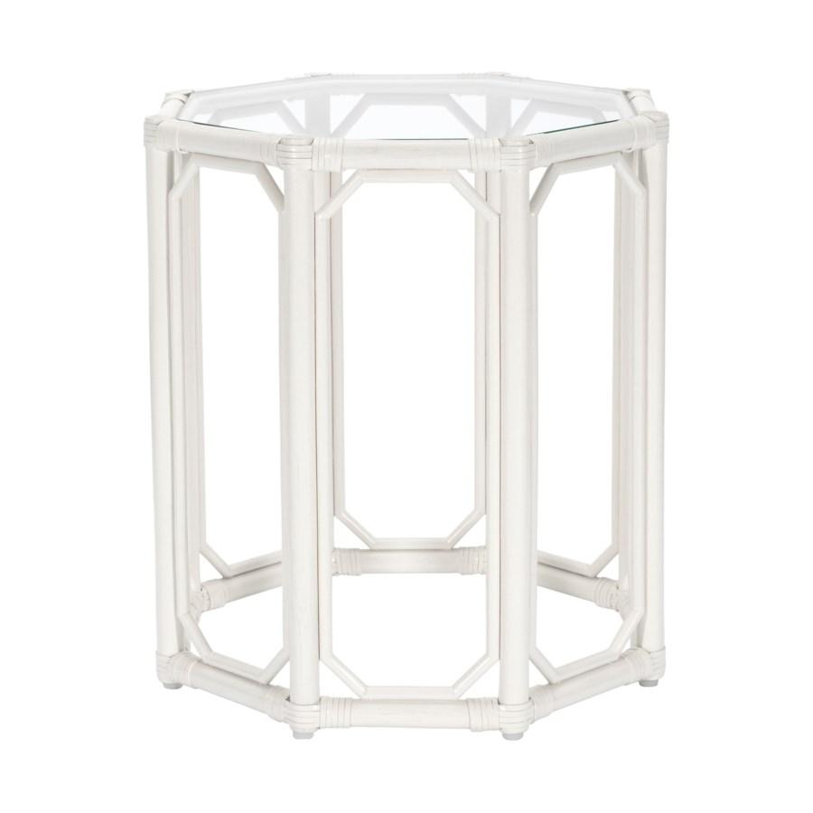 Regeant Octagon Side Table in White
