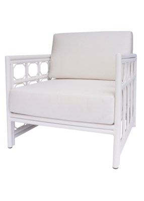 4-Season Regeant Lounge Chair (Aluminum) w/ Cushions - White