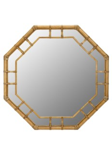 Regeant Octagonal Mirror in Nutmeg