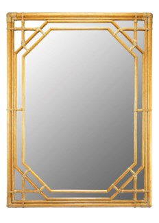 Regeant Rectangular Mirror in Nutmeg