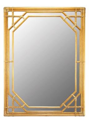 Regeant Rectangular Mirror in Nutmeg