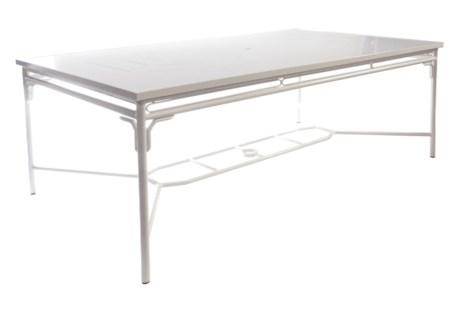 Regeant 4-Season Rectangular Dining Table in White