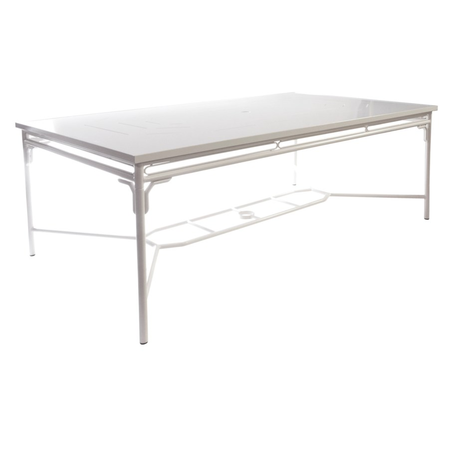 Regeant 4-Season Rectangular Dining Table in White