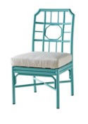 4-Season Regeant Side Chair (Aluminum) w/ Cushion - Blue