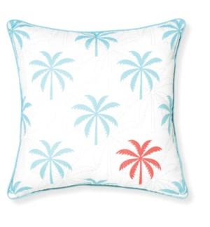 Riviera Island Aqua Outdoor Throw Pillow