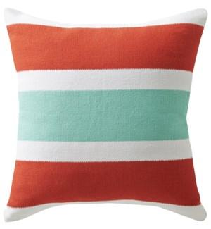 Santorini Red Throw Pillow ADD INSERT PFF20X20 - LIQ