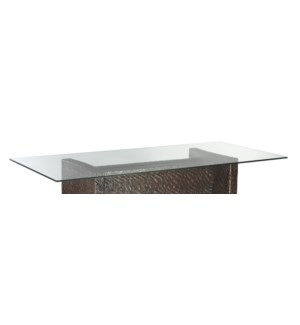 "Dining Table - Glass Top (44"" x82"" x12mm)"