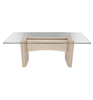 Riva Rect Dining Table in Salt