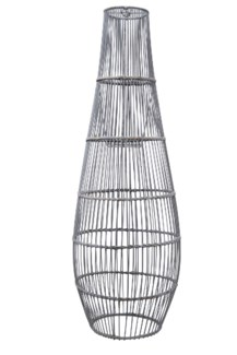 Ray Bamboo Large Pendant in Grey Wash