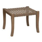 Sasha Leather Woven Stool