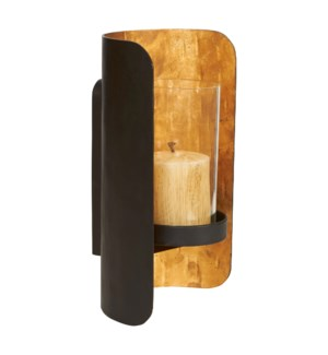 Sahara Sconce in Black and Gold