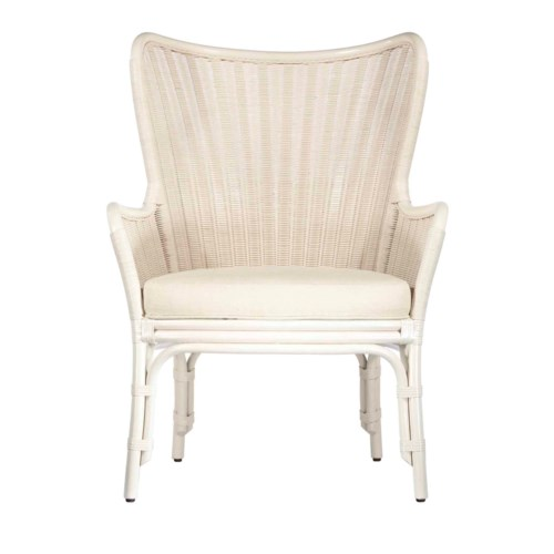 Sheridan Wing Chair in White