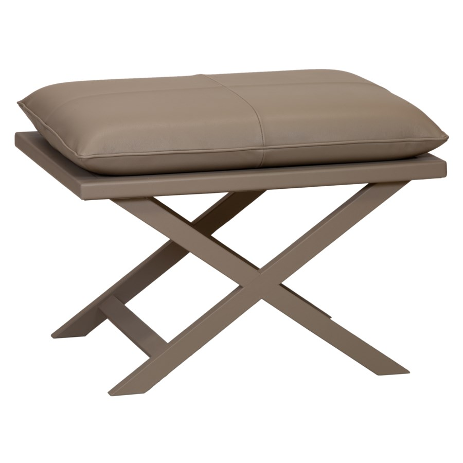 Sonoma Leather Stool in Grey