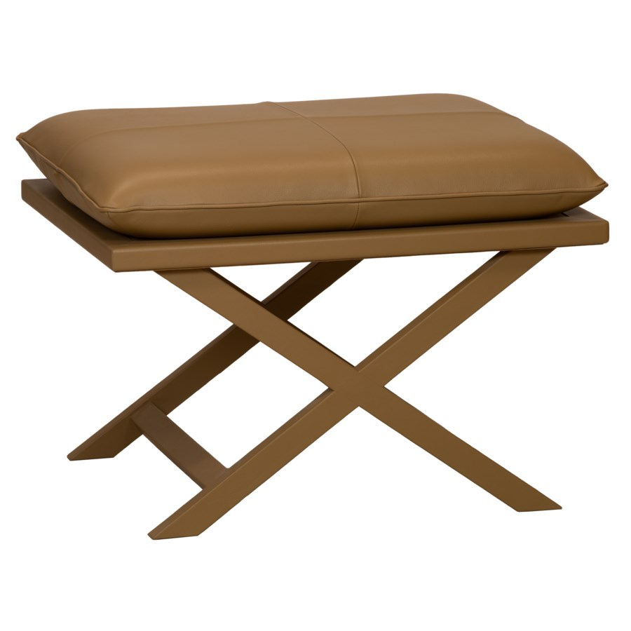 Sonoma Leather Stool in Natural