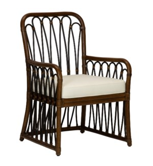 Sona Arm Chair in Cinnamon/Espresso