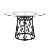 Sona Dining Table Base in Clove