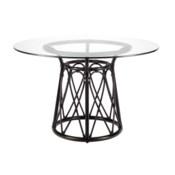 "Sona 48"" Dining Table Base - Clove"