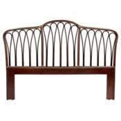 Sona King Headboard in Cinnamon/Espresso