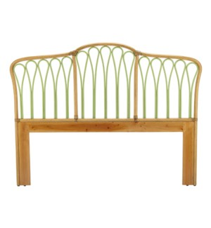 Sona King Headboard in Nutmeg/Kiwi