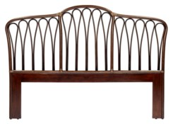 Sona Queen Headboard in Cinnamon/Espresso