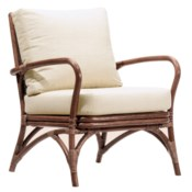 Soren Occasional Chair in Walnut with Charcoal Fabric