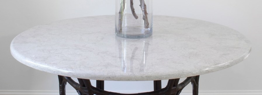 "Stone Top - Bianco Alexander (48"" diameter)"