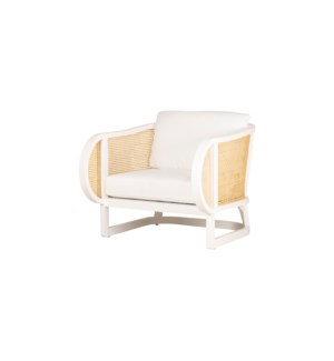 Stockholm Lounge Chair in White