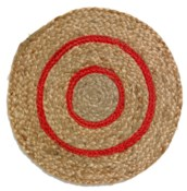 Rapee Toulouse Red Round Placemat 35cm