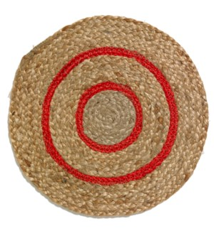 Toulouse Red Round Placemat - LIQ