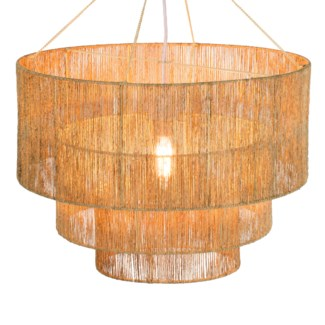 Three Tier Jute Chandelier