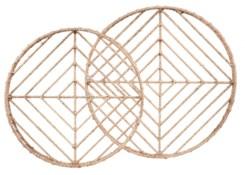 Vineyard Round Nesting Trays (2) - Natural