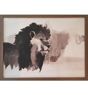 William Morris Forest Lion Print
