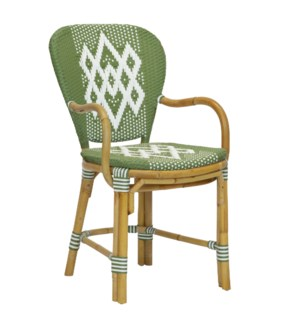 Hekla Bistro Arm Chair in Green