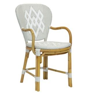 Hekla Bistro Arm Chair in Grey
