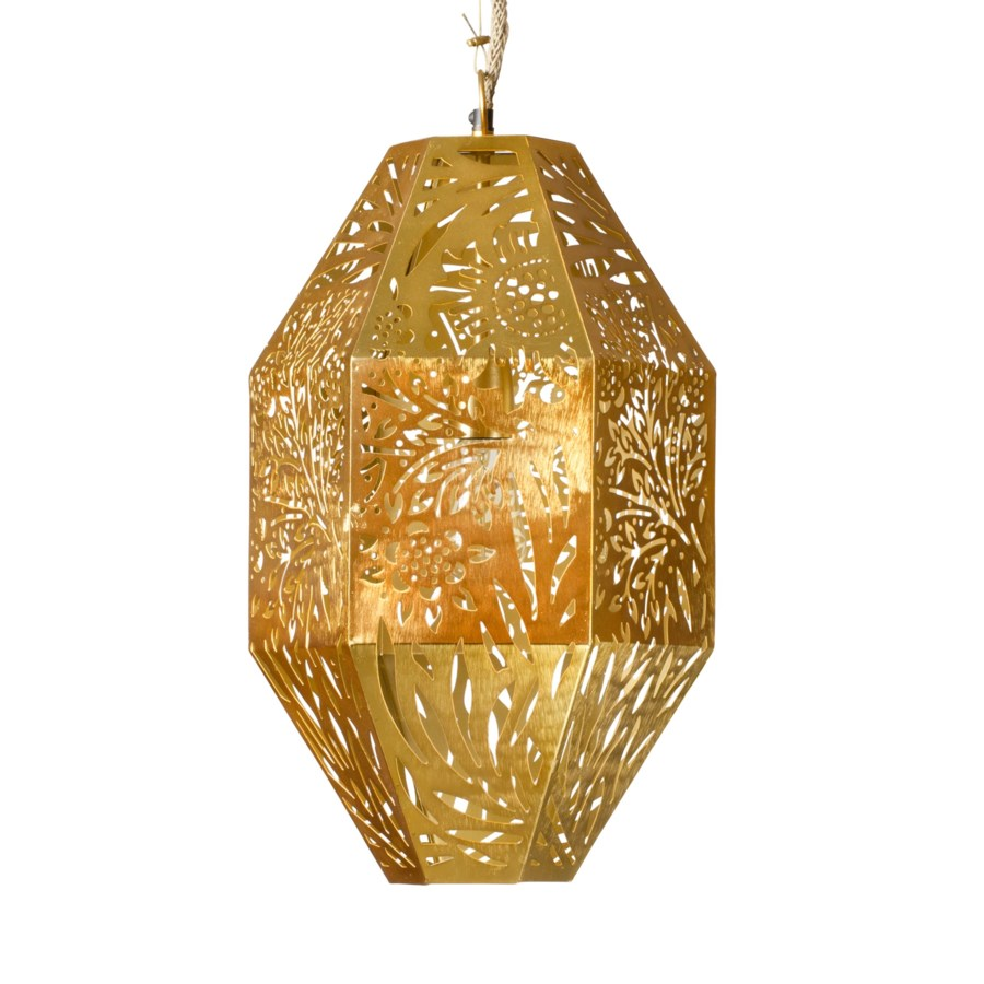 Marigold Long Pendant in Brass
