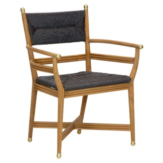 Kelmscott Rush Arm Chair in Black