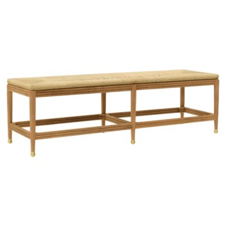 Kelmscott Rush Bench in Natural